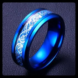 Jewelry - Blue Titanium Ring Size 12